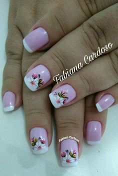 Perfect Colorful Floral Nail Design – 9 It's your turn to have great nails! Check out this year's most … Great Nails, Fabulous Nails, Nail Designs Spring, Nail Art Designs, Spring Nails, Summer Nails, Flower Nails, Cookies Et Biscuits, French Nails