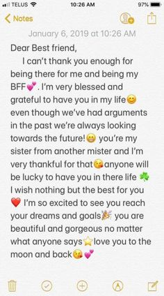 58 Ideas Quotes Birthday Friendship Bff For 2019 Friendship Quotes Happy Birthday Best Friend Quotes, Birthday Quotes For Best Friend, Birthday Cards For Friends, Quotes For Best Friends, Best Friend Messages, Letter For Best Friend, To My Best Friend, Best Friend Notes, Happy Birthday Text