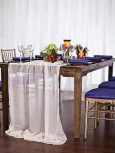 Blue and White Party Event Decor