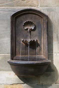 Outdoor Wall Fountain mediterranean outdoor fountains Falling