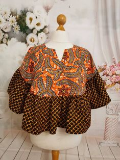 Short African Dresses, African Blouses, Latest African Fashion Dresses, African Print Dresses, African Print Fashion, Africa Fashion, African Prints, Women's Fashion, Ankara Dress Designs