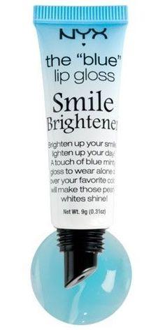 NYX Cosmetics Blue Mood Lip Gloss Smile Brightener must-have - Plumping Lip Scrub - Nyx Cosmetics, Dupes Nyx, Elf Dupes, Eyeshadow Dupes, Lipstick Dupes, Liquid Lipstick, Bright Lipstick, Lipstick Shades, Mac Velvet Teddy