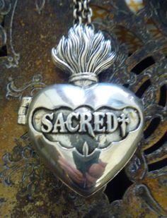 hold SACRED reliquary locket by amuletrelics on Etsy, $250.00