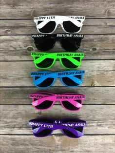 59c02c7541 Happy 13th Birthday ADULT Personalized Sunglasses