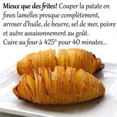 Patates au four plus  croustillantes que des frites!