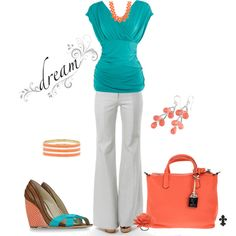 Turquoise White Dream, created by hatsgaloore on Polyvore