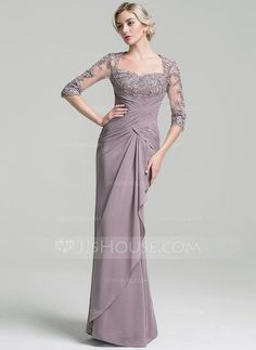 [US$ 174.19] Trumpet/Mermaid Sweetheart Floor-Length Chiffon Mother of the Bride Dress With Ruffle Cascading Ruffles
