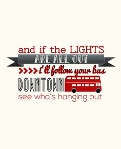 One Way Or Another- One Direction - Lyrics Art