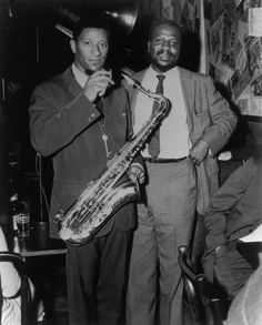 Sonny Rollins and Thelonious Monk at the Five Spot Cafe, NYC 1957.