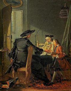 """""""L'enfance / Die Kindheit"""", 1743. Michel-François Dandré-Bardon (1700-1783). Museé Granet, Aix-en-Provence."""