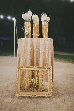 Sparkler sendoff sign | Santa Ynez Valley, California Wedding | Lovelyfest Event Design
