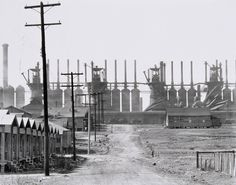 Steel Mills and Workers' Houses, Birmingham, Alabama  photo by Walker Evans, 1936