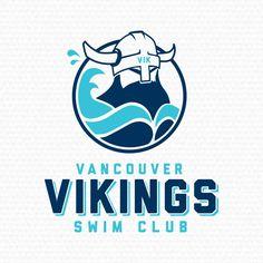 Vancouver Vikings Swim Club Logo Design Hs Logo, Logo Branding, Branding Design, Swim Logo, Summer Logo, Web Design Studio, Logo Templates, Email Templates, Swim Team