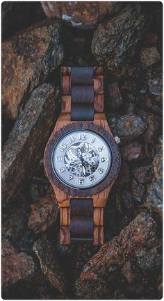 Dover Zebrawood & Dark Sandalwood - Mechanical Wood Watch by JORD La Mode Masculine, Mode Shop, Wooden Watch, Fashion Watches, Jewelery, Jewelry Rings, Watches For Men, Fashion Accessories, Fashion Jewelry