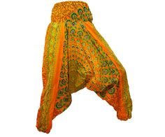 Women's Colorful Thai Harem Pants/Baggy by AsianCraftShop on Etsy, $25.00, Thai Harem Pants, Aladin pants, baggy pants, yoga pants, Trousers, Bohemian pants, Gypsy pants, Hippie pants, Genie pants, Aladdin pants, Boho pants, Smock, Jumpsuit