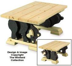 Winfield BBEAR4 Black Bear Coffee Table wood furniture craft pattern The Pattern Hutch