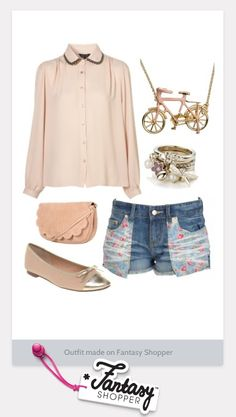 Cute Spring Outfit created in Fantasy Shopper - totally adorable! X #topshop #spring #outfit