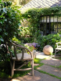 We have now established boundaries , an entrance and paths in our Cottage Garden. Examine the view from both inside the garden and inside the cottage. Small Gardens, Outdoor Gardens, Outdoor Rooms, Outdoor Living, Outdoor Patios, Outdoor Kitchens, Dream Garden, Home And Garden, Garden Living