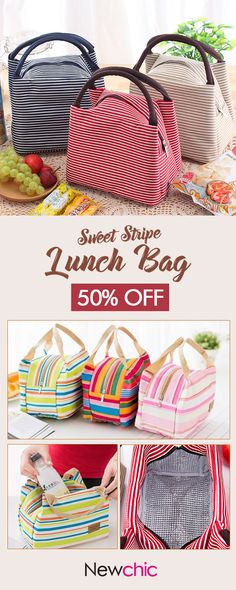 [Click to SHOP] Waterproof Lunch Tote Bag#newchic#outdoor#picnic#funny