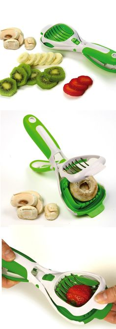 Norpro Hand-Held Slicer: Cut 6 even slices with the stainless steel blades and soft-grip comfort handle to get the perfect result every time!
