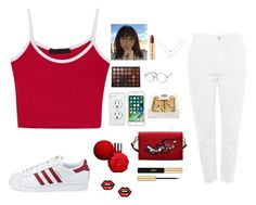 """""""ximena"""" by disneynakaiya ❤ liked on Polyvore featuring adidas, ZeroUV, ULTA, Morphe, CellPowerCases, Apple, Yves Saint Laurent and George J. Love"""