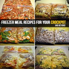 6 Freezer Meal Recipess For Your Crockpot And Beyond!