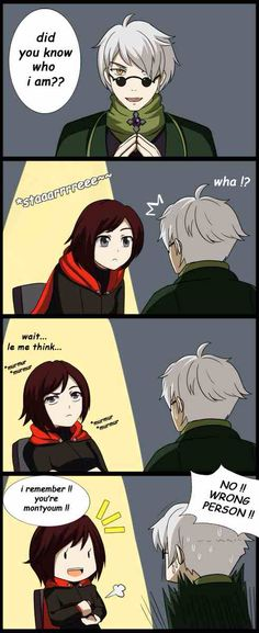 omake from episode 1 when ruby meet ozpin the head master it just me or ozpin model bit looks like montyoum NB : Ozpin was originally supposed to be voiced by Monty Oum RWBY (c) *montyoum Girls Anime, Anime Couples Manga, Cute Anime Couples, Rwby Anime, Rwby Fanart, Yandere Manga, Manga Anime, Mirai Nikki, Vocaloid