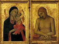 Museo Horne - Firenze - Simone Martini (Siena 1284 ca - Avignone 1344) - Madonna con il bambino e Cristo in Pietà - 1326-1328 - tempera su tavola