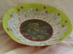Hey, I found this really awesome Etsy listing at https://www.etsy.com/listing/209323473/pine-tree-paper-mache-bowl-christmas