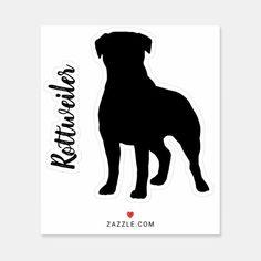 Rottweiler Silhouette Dog Breed Vinyl Sticker   funny rottweiler, rottweiler gifts, mini rottweiler #rottweilermix #rottweilerfan #rottweileroftheday Silhouette Vinyl, Rottweiler Puppies, Silhouettes, Dog Breeds, Doodles, Stickers, Dogs, Pets, Pet Dogs