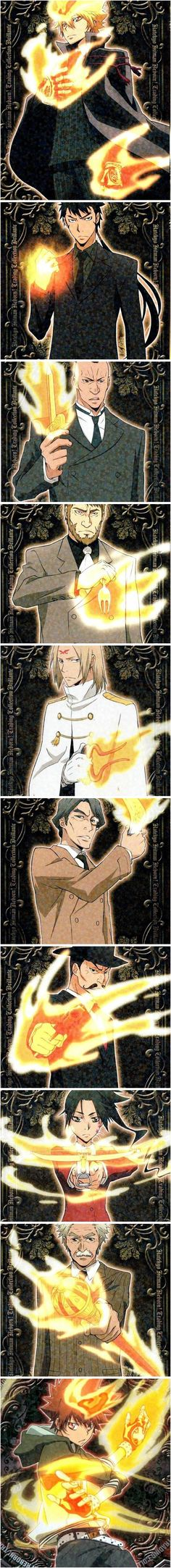 Vongola Boss #khr  Tsuna's flames are err a little out of control comparatively
