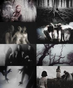 The Norns are female beings who control the destinies of gods and mortals. The most important of these beings are Urd (Fate), Skuld (Being), and Verdandi (Necessity). They guard the well Urðarbrunnr, located beneath Yggdrasil in Asgard, keeping the World Tree healthy by pouring water and mud from the well on its roots. In other myths, there is a Norn present at every birth, and she has control over how the newborn's life with unfold.
