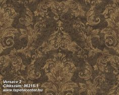 Pompei x Embossed Wallpaper Versace Home Colour: Brown/Black Embossed Wallpaper, Damask Wallpaper, Wallpaper Panels, Vinyl Wallpaper, Home Wallpaper, Designer Wallpaper, Casa Versace, Versace Home, Brown And Gold Wallpaper