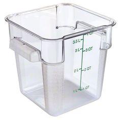 Carlisle (1072107) - 4 Qt StorPlus™ Food Container | FoodServiceWarehouse.com