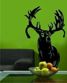Hight 80cm Deer Head Vinyl Wall Paper Decal Art Sticker T111 in Home & Garden, Home Décor, Wall Stickers | eBay!