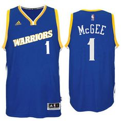 09624a42c Javale McGee Jersey  adidas Royal Stretch Crossover  1 Golden State Warriors  NBA Swingman Jersey