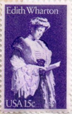 US postage stamp, 15 cent. Edith Wharton.  Issued 1980.  Scott Catalog 1832.
