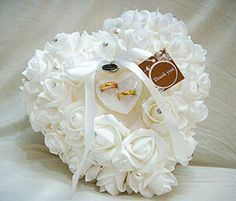 Colorful White Crystals Pearl Bridal Ring Pillow Organza Satin Lace Bearer Flower Rose Pillows Bridal Supplies Beaded Wedding Favors Box from Alinabridal,$14.66 | DHgate.com