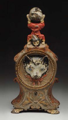 J.&E. Stevens Cat & Mouse C.I. Mechanical Bank