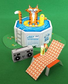 Pool Cat by Rory Phillips