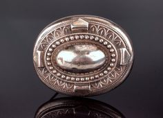 Victorian Silver Pin Brooch with high Domed by BelmontandBellamy