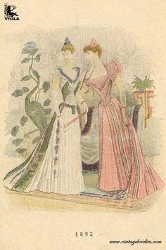 1892 Women's Fashion, Painting, Art, Art Background, Fashion Women, Womens Fashion, Painting Art, Kunst