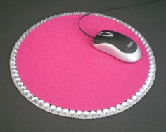 PINK & BLING MOUSEPAD  Sparkling fuchsia pink by LaurieBCreations, $10.00