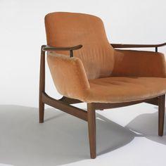 Finn Juhl; NV-53 Lounge Chair for Niels Vodder, 1953.