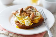 For a wholesome breakfast in bed this Mother's Day, try this wholemeal toast with rosemary eggs and mackerel
