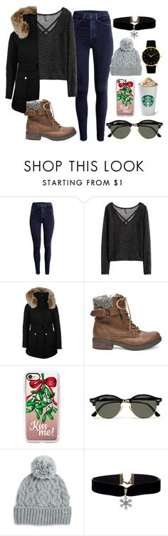 """""""Day 14:  Last Min. Christmas Shopping!"""" by katelyn-love1 ❤ liked on Polyvore featuring H&M, K100 Karrimor, Steve Madden, Casetify, Ray-Ban and Rella"""