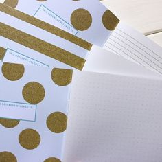 Sneak peek of the inside covers of our notes, secrets and sketches - we love them!