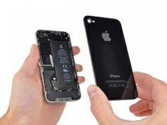 Schritt 3 - Drücken Sie die hintere Schale mit den Daumen nach oben und hebt es von dem iPhone ab.
