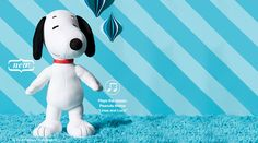 "The always lovable Snoopy plays the classic Peanuts theme song ""Linus and Lucy"" at the push of a button. Stands 18"" tall...the perfect size for hugging! Ages 3 and up. Plush. Imported. https://www.avon.com/product/54484/peanuts-snoopy-musical-cuddle-pillow"