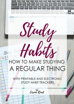 Developing study habits for regular and productive study can help you avoid all-nighters and last minute stress. Track your study with free printables!